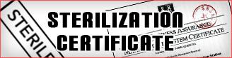 Sterilization Certificate