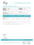 Sabre X17 Test Certificate