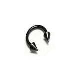 Black Steel Cone Circular Barbell