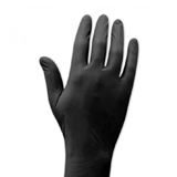 ブラック二トリル手袋