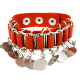 Red Leather Bracelet (Design B2)