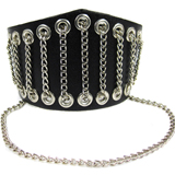 Black Leather Cuff (Design B3)
