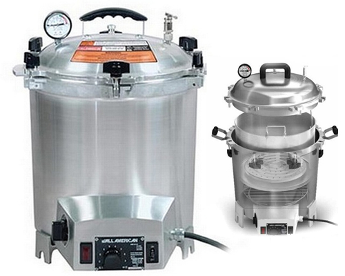 All American Large Electrical Heat Top Autoclave