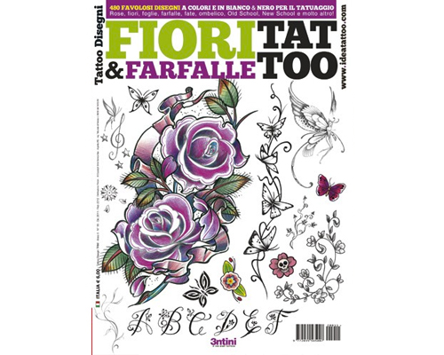 Flowers & Butterflies Tattoo Flash Book