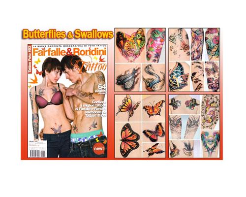 Butterflies & Swallows Flash Book