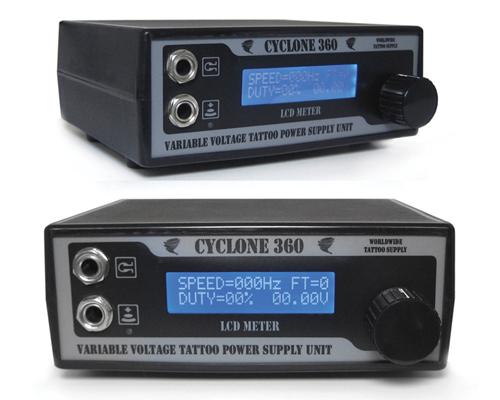 サイクロン360 LCD電源