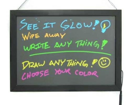 Glowing Dry & Erase Tablet