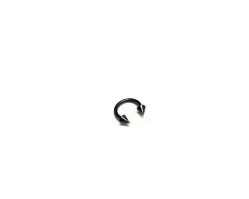 Black Steel Cone Circular Barbell