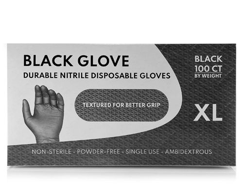 Black & Blue Nitrile Gloves