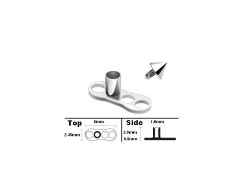 Implant Grade Titanium Dermal Anchor w/Cone