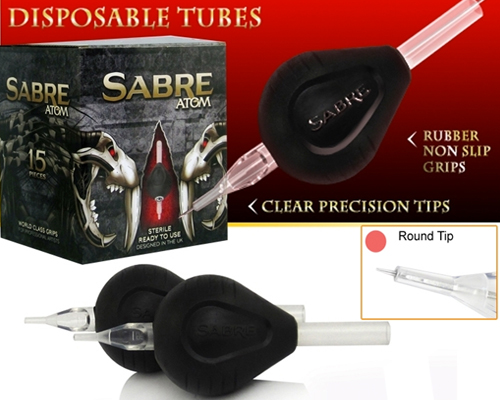 Round Tip ATOM Disposable Tubes