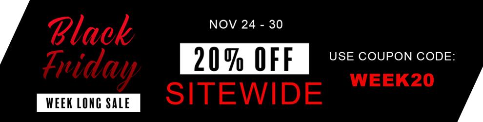 20% Off Black Friday Week Sale